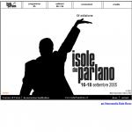 Isole che Parlano 2005 - sito in Flash - Home