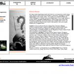 Isole che Parlano 2005 - sito in Flash - Scheda artista