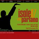 Isole che Parlano 2007 - sito in Flash - Homepage