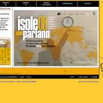Isole che Parlano 2008 - sito in Flash - homepage